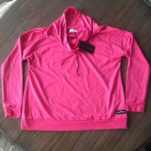 Simply Southern XL pink cowl neck long sleeve top